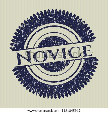 Blue Novice rubber stamp
