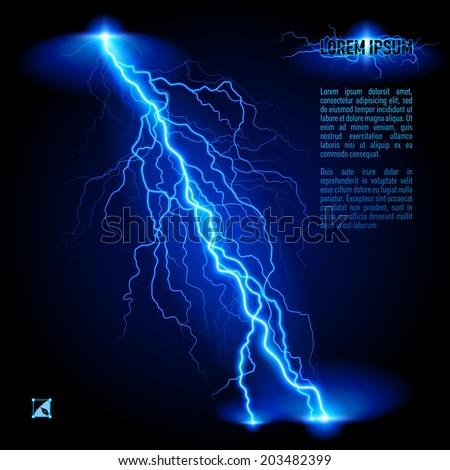 blue oblique branchy lightning
