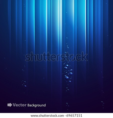 blue ocean from underwater with