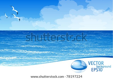 blue ocean vector template