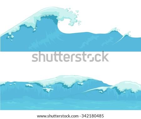 blue ocean wave  giant wave