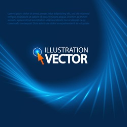 Blue Optical Fibers for your business presentation. Vector illustration