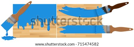 blue paints on wooden boards