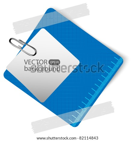 Blue paper with space for text