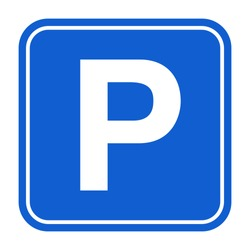 Blue Parking sign. Isolated vector illustration