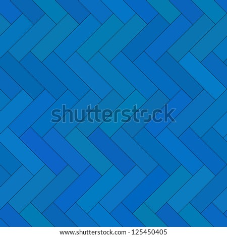 Blue  parquet seamless pattern