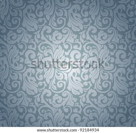 blue pattern seamless  vector