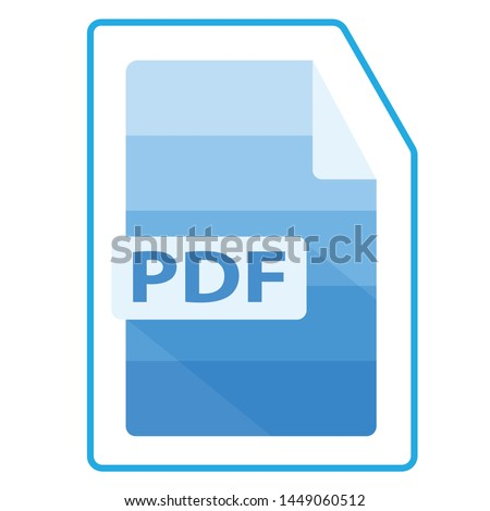 blue pdf icon. Flat illustration of blue vector pdf file icons for web applications, Android and desktop