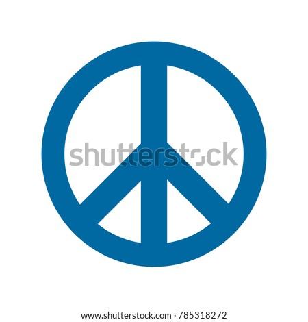 blue peace icon