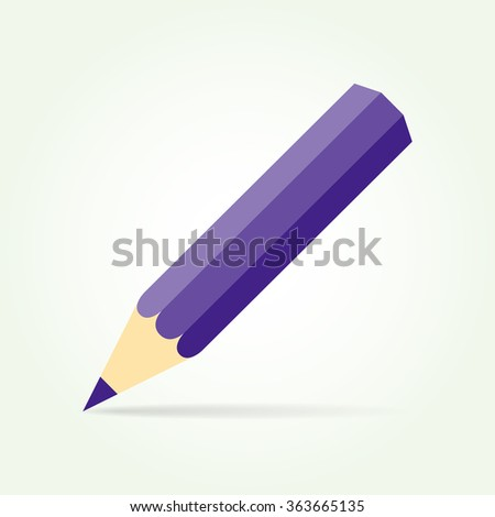 blue pencil isolated on a light background #363665135