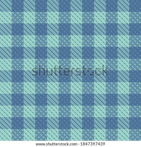 Blue pepita check seamless vector repeat pattern Foto stock ©