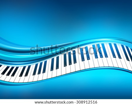 Blue Piano Background
