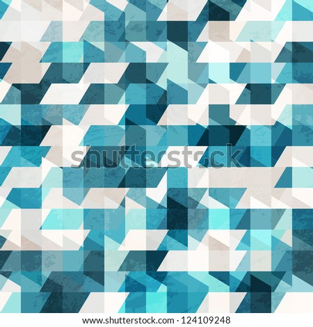 ShutterStock blue pixel seamless pattern 124109248