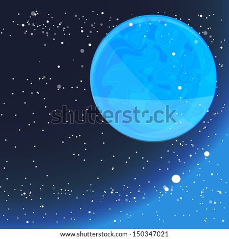 blue planet in deep space