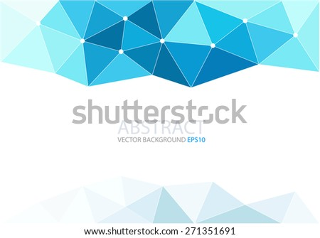 blue polygon background