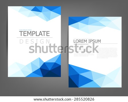 modern geometric business brochure in blue and white download free