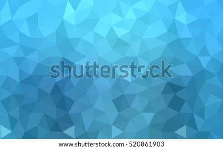 blue polygonal illustration