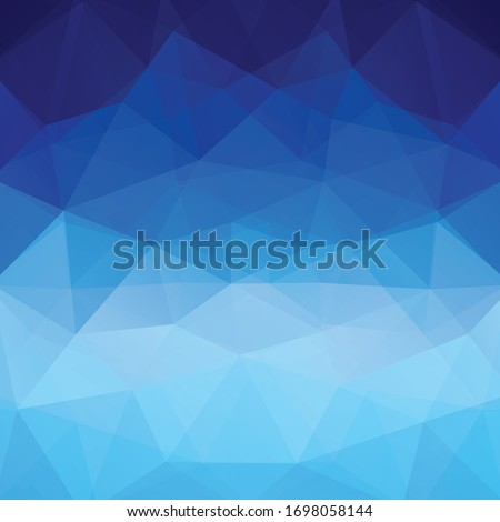Blue polygonal vector background. Can be used in cover design, book design, website background. Vector illustration