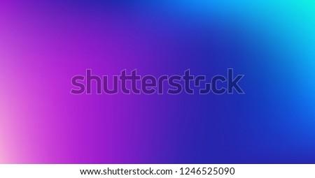 Blue Purple Dreamy Vibrant Gradient Vector Background. Sunrise, Sunset, Color Overlay, Sky, Water Neon Design Element. Trendy Unfocussed Luxury Holograph Texture. Minimal Fluid Color Digital Gradient