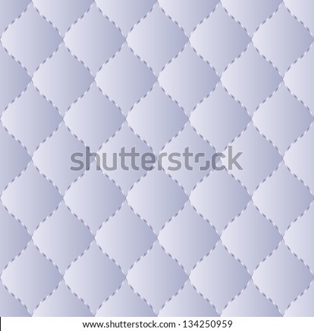 blue quilted fabric embroidered thread - seamless pattern