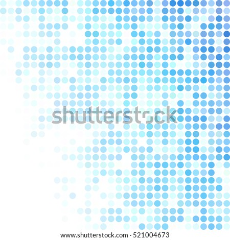 blue random dots background