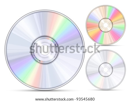 Blue-ray, DVD or CD disc. Vector illustration