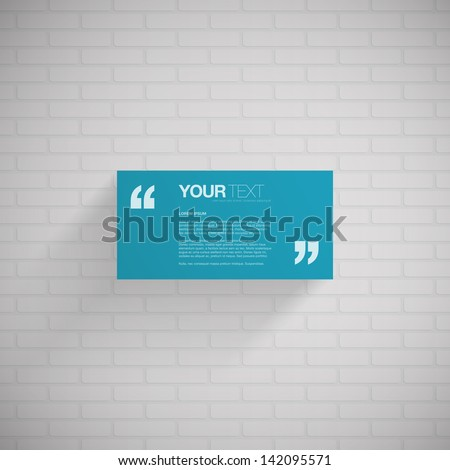 blue rectangle quote box with