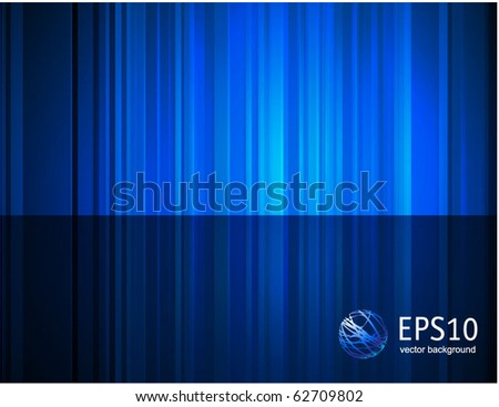 Blue reflection abstract background. Vector.