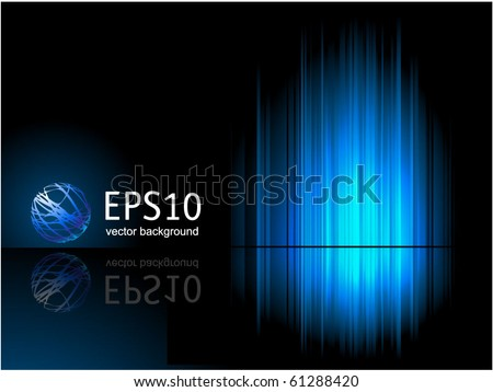 Blue reflection. Vector.