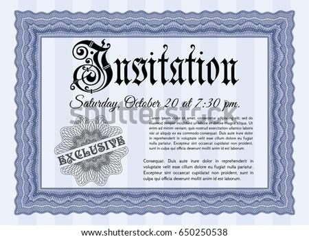 blue retro invitation template