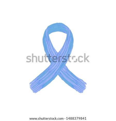 Blue ribbon awareness month. Prostate cancer blue ribbon awareness month vector icon.Prostate cancer blue ribbon awareness month background.Prostate cancer blue ribbon awareness month campaign