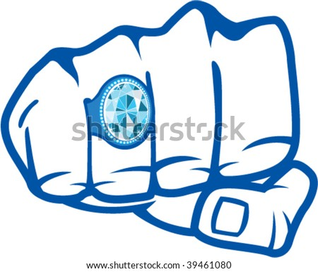 Blue Ring on The Fist