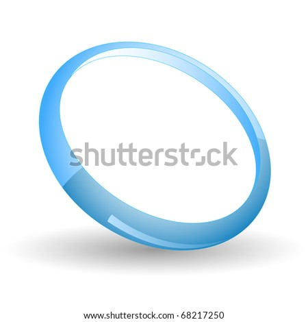 Blue ring. Vector icon.
