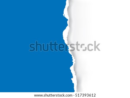 blue ripped paper background