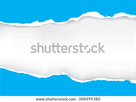 Blue ripped paper. Illustration of orange ripped paper with place for your image or text. Vector available.