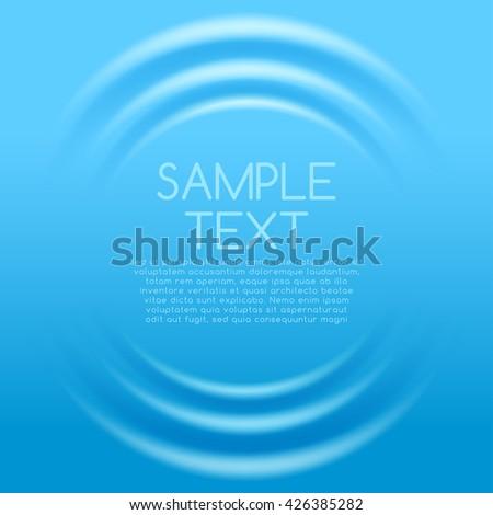 Blue Rippled Background Template : Vector Illustration
