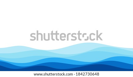 blue river ocean wave layer