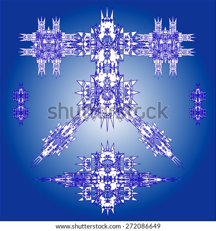 blue robots vector set