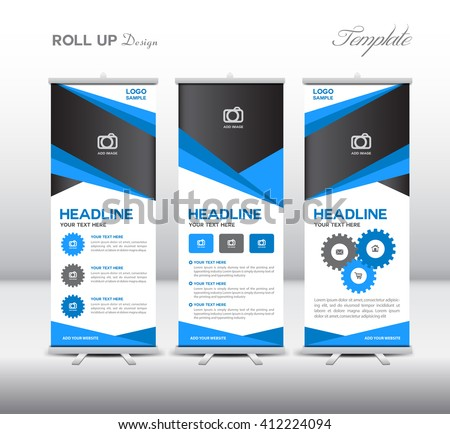 Roll Up Banner template vector illustration - Download Free Vector ...