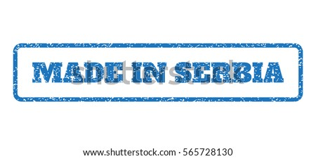 blue rubber seal stamp with