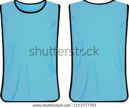 Blue safety vest. vector illustration
