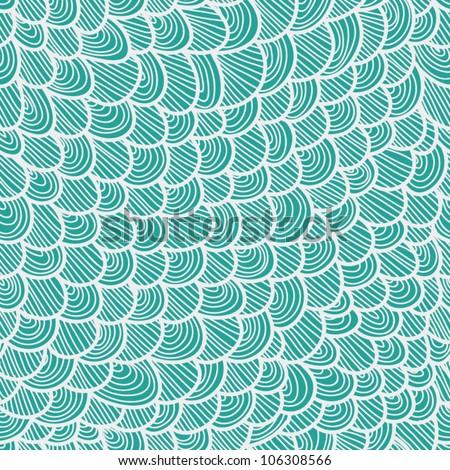blue scale seamless pattern