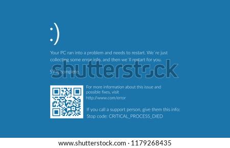 blue screen of death  bsod