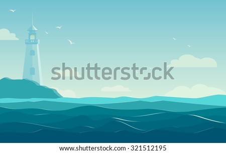 blue sea background with waves