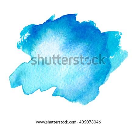 blue sea water watercolor ink