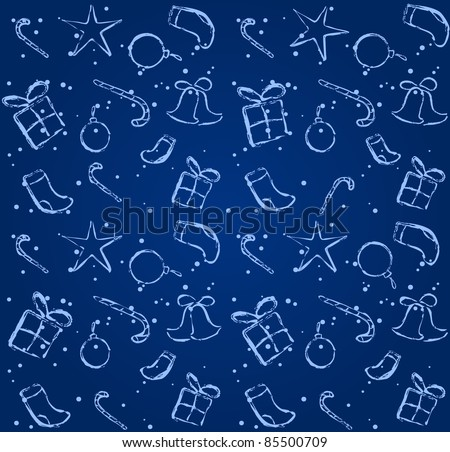 blue seamless background. Christmas/New Year illustration