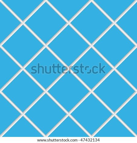 blue seamless ceramic tiles, abstract diagonal texture; vector art illustration