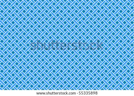 blue seamless diagonal mesh, abstract vector art illustration