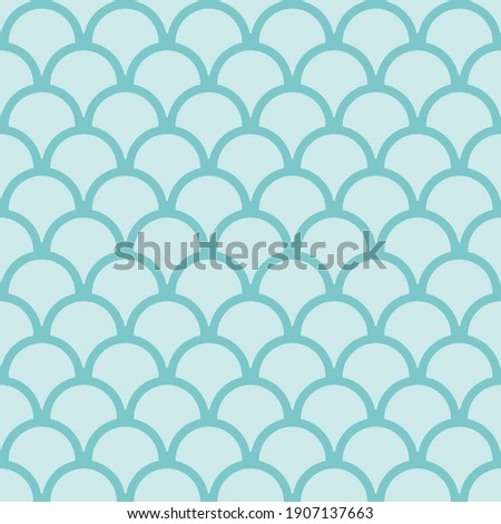 blue seamless fish scales skin