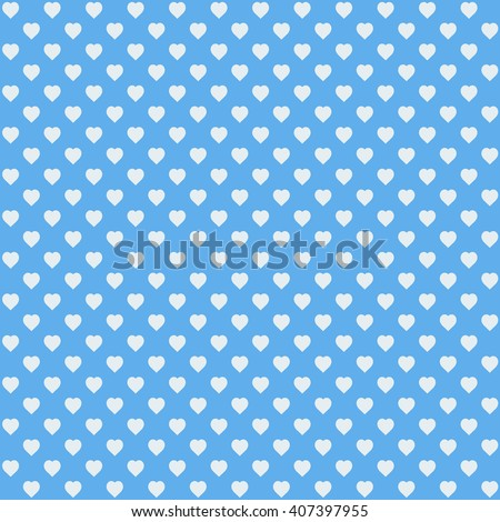 blue seamless heart pattern